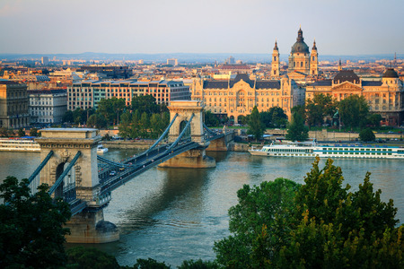 Sunset cityscape in Budapest, Hungary  Stock Photo