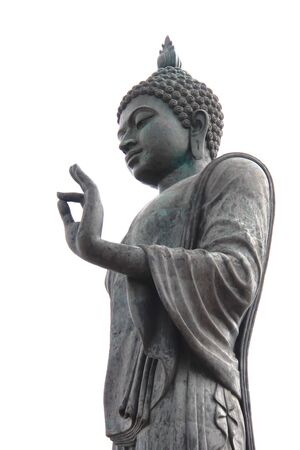 godhead: A big buddha statue on white background