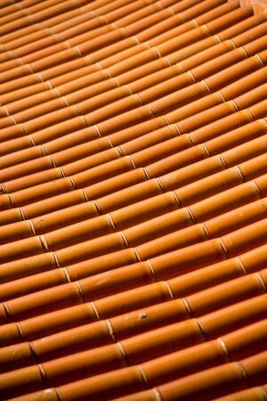 structuring: The pattern and texture of orange tile roof.