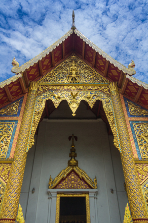 structuring: Beauty of art in the old temple , North of Thailand. Stock Photo