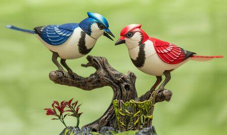 automat: Beauty of mechanical birds for children.