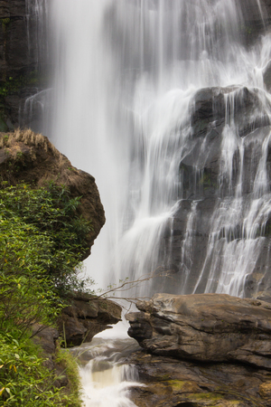 The beautifull image of waterfall in the National Park, North,  Thailand.