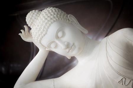 buddha statue: White Buddha statue in a temple, thailand