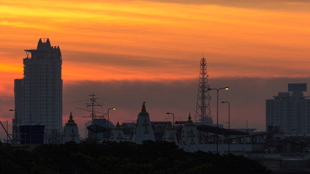 formatting: The colorful of sky in morning, Bangkok Thailand.