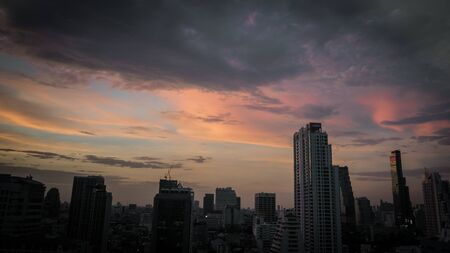 View of the building and Bangkok city
