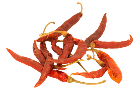peppery: Dried Chillies Stock Photo