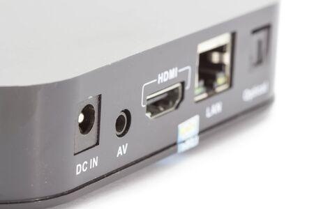 hdmi: USB LAN HDMI Interface of receiver box