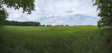 Awesome Panoramic Field and Summer Sky View from the Splitrock Narrows
