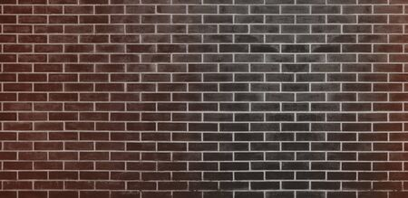 Brick wall, Black Brown bricks wall texture background for graphic design Imagens
