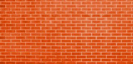 Brick wall, Orange bricks wall texture background for graphic design Imagens