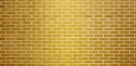 Brick wall, Golden yellow bricks wall texture background for graphic design
