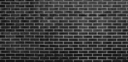 Brick wall, Gray black bricks wall texture background for graphic design Imagens