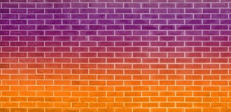 Brick wall, Orange purple bricks wall texture background for graphic design