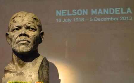 nelson mandela: Statue of Mandela in London