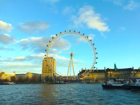 the place is important: The Wheel from the Thames - London