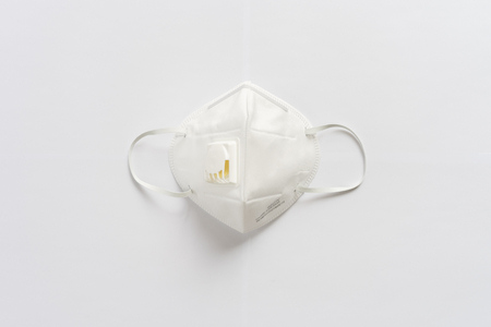 N95 mask on a white background