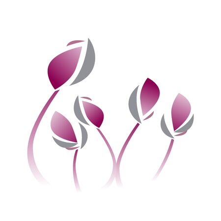 violet flower: Vector illustration lotus violet flower