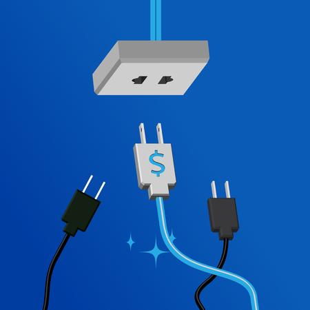 ELECTRICAL OUTLET: Business design concept by vector illustration Illustration