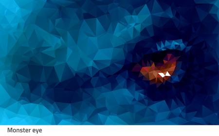 animal eye: Vector illustration animal eye contact strong and danger