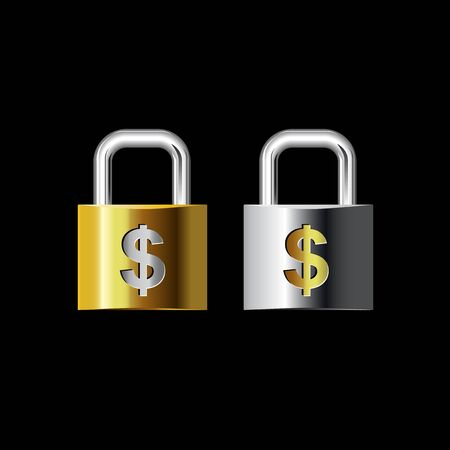 new opportunity: Vector illustration Keys lock money present