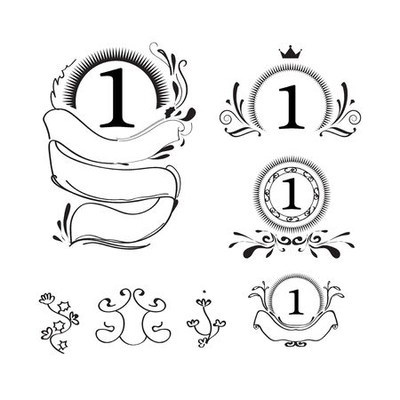 Tracery design by illustration black ink concept