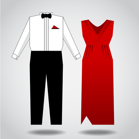 both: Vector illustration, design clothes for both sexes.