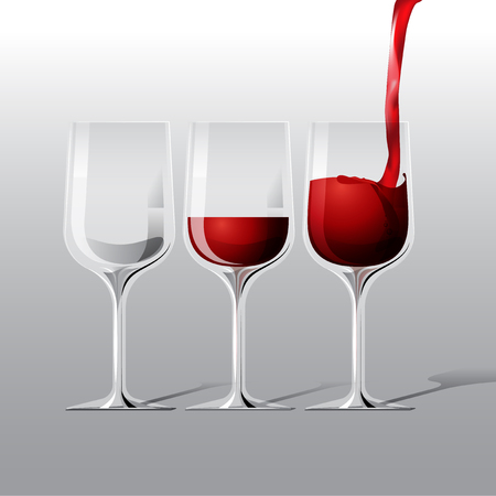 cabernet: vector red wine glass illustration Illustration