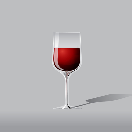 red wine glass: vector red wine glass illustration Illustration