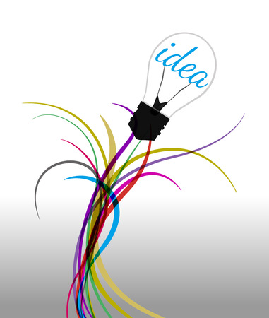 wiring: Vector illustration wiring connecting to light idea Illustration
