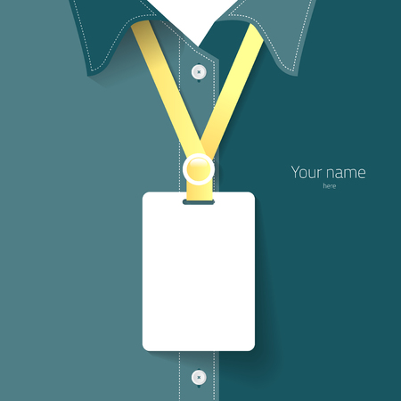 Blank name tag for put staff identification or detail of your own business. create by vector illustration file. Ilustrace