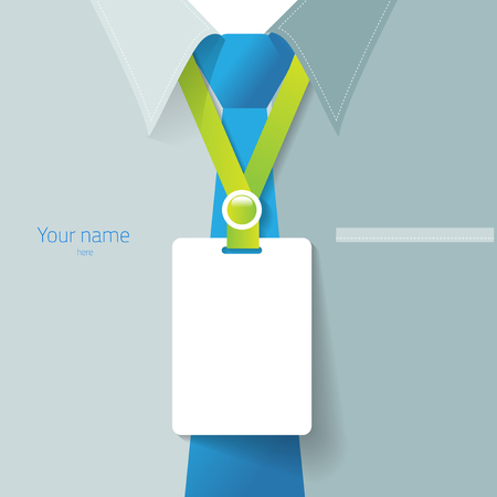 Blank name tag for put staff identification or detail of your own business. create by vector illustration file. Illustration