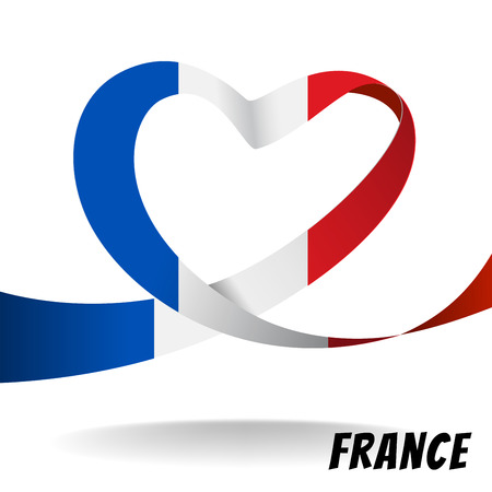 France country flag on heart design. create by vector file Illustration