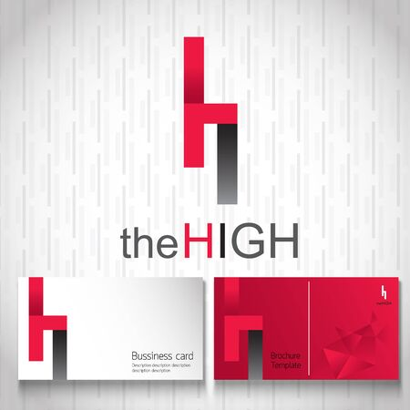 rise: Logo design. name is The High suitable use for any business growth up. create by vector file