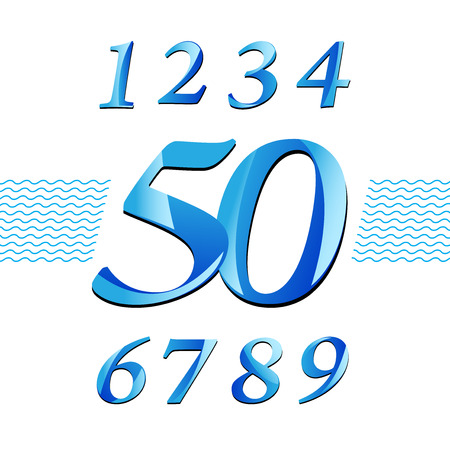 numbering: Numbering design. modern reflect and luxury style. vector file Illustration