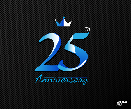 Symbols celebrating anniversary with concept of luxury. Vector file