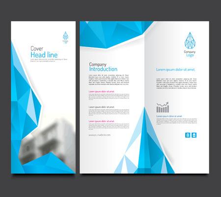 er: Brochure and leaflet template design. blue diamond concept. vector file