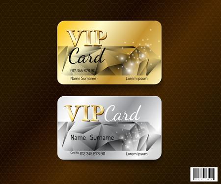 VIP-kaart symbool design. luxe concept. vector-bestand
