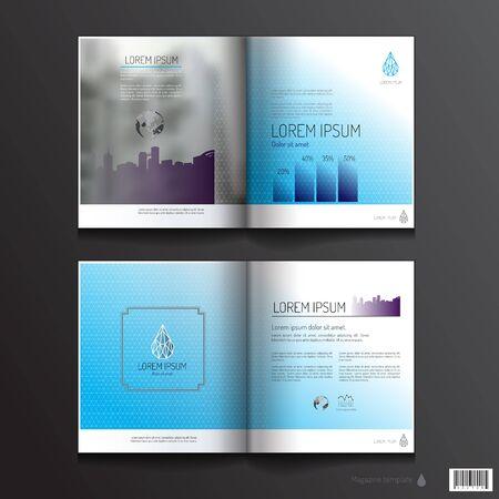 magazine design: Magazine template design. pages layout. vector file Illustration