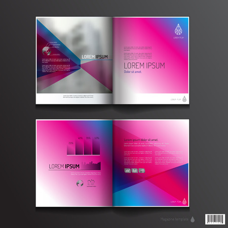 magazine design: Magazine template colorful design. pages layout. vector file
