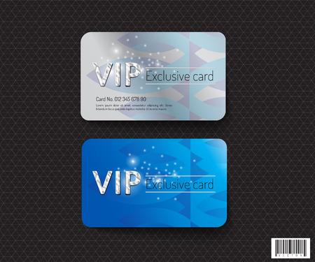 VIP 카드 템플릿 디자인. 럭셔리 개념입니다. 벡터 파일