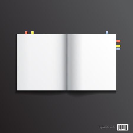magazine template: Magazine template design. pages layout. vector file Illustration