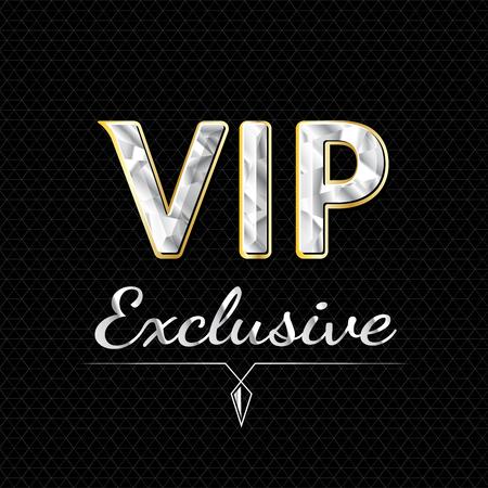 exclusive: VIP exclusive   design. luxury concept. vector file Illustration