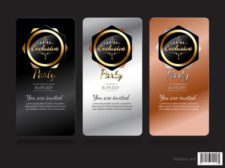 exclusive: Invitation card exclusive concept design. vector file Illustration