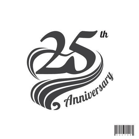 25 th anniversary symbol design. vector file Ilustração Vetorial