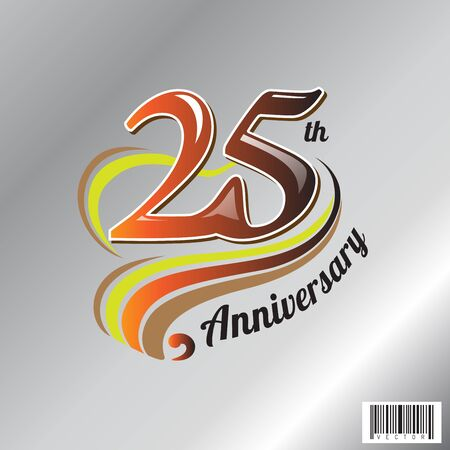 25 th anniversary  symbol design. vector file