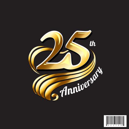 25 주년 기념 심볼 디자인. 벡터 파일