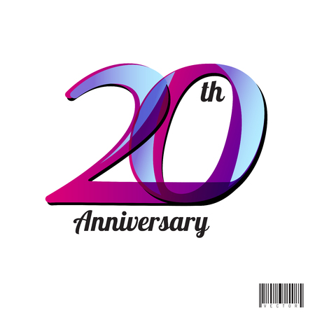 20 years anniversary symbol design. vector file