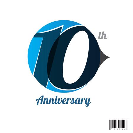 ten years jubilee: 10 years anniversary symbol design. vector file