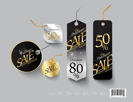 low price: Tag template design. Discount sale promotion. vector file Illustration