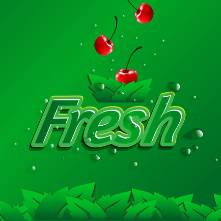 Fresh fruit organic farm design. suitable use for product, label, brochure etc. vector file